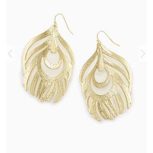 Kendra Scott Karina Statement Feather Earrings